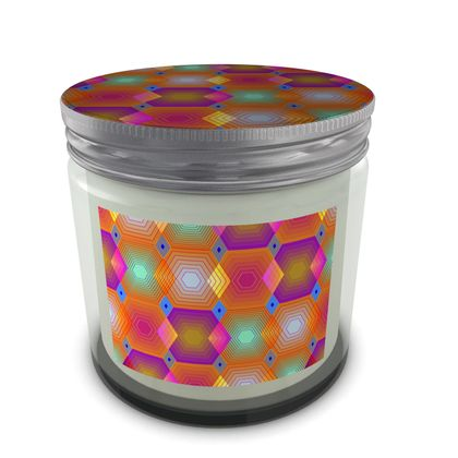 Geometrical Shapes Collection Set Candle In Jar