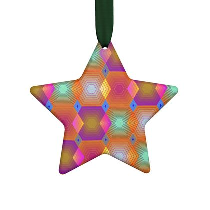 Geometrical Shapes Collection Hand Made Flat Ornaments