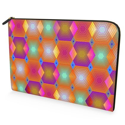 Geometrical Shapes Collection Leather Document Case