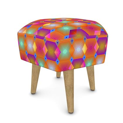 Geometrical Shapes Collection Footstool (Round, Square, Hexagonal)
