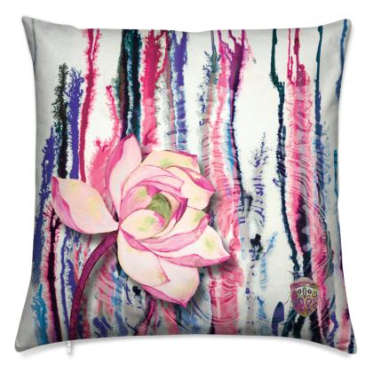Pink Ink Cushion