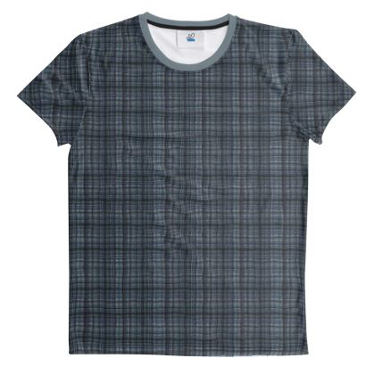 Cut And Sew All Over Print T Shirt Plaid 10