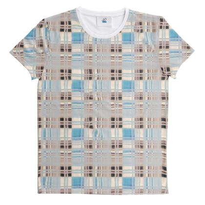 Cut And Sew All Over Print T Shirt Plaid 13