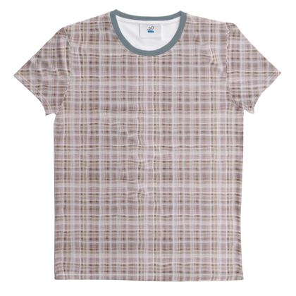 Cut And Sew All Over Print T Shirt Plaid 12