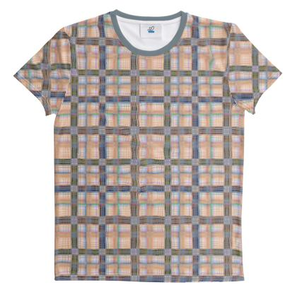 Cut And Sew All Over Print T Shirt Plaid 15