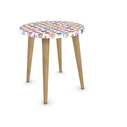 Rainbow Daisies Collection On White Side Table