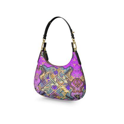 Micro-Schulter Tasche ninibing34 Silver Koi purple