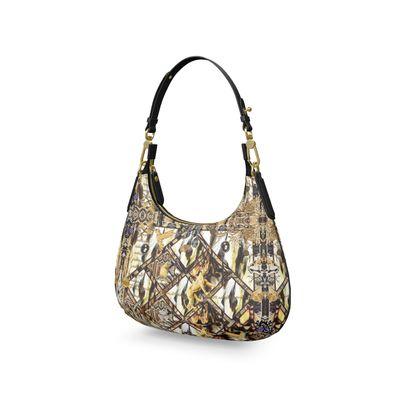 Federleicht SariaMini Curve Bag, Micro Satteltasche, Mini Schultertasc