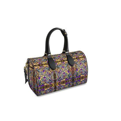 Doctors Bag. Duffle Bag ninibing34 Retro Silver Koi brown