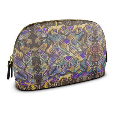 Leder Cosmetik-Bag oder Clutch DARIA