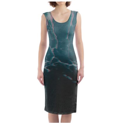 "Bodycon Dress ""Marbled Ice"""