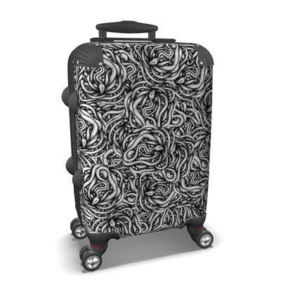 Infinite Snake Pattern Suitcase