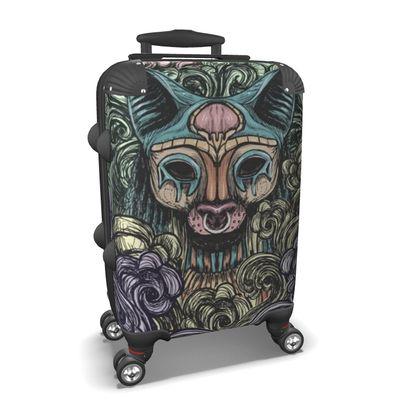 Bastet on the field Suitcase