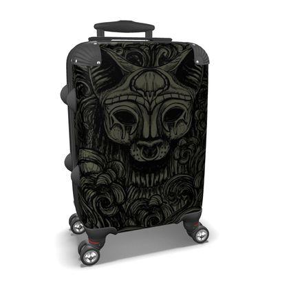 Bastet on the field Dark Suitcase