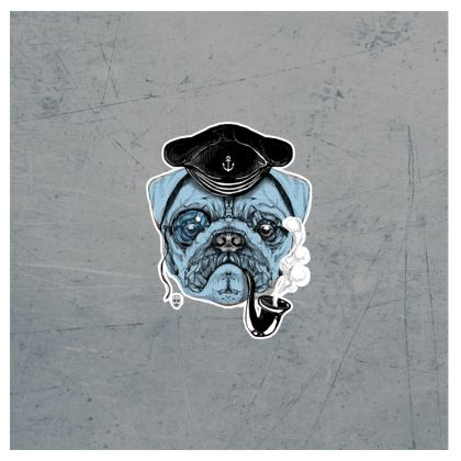Sailor Pug - Suitcase