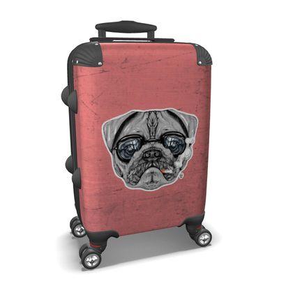 Intelectual Pug Suitcase