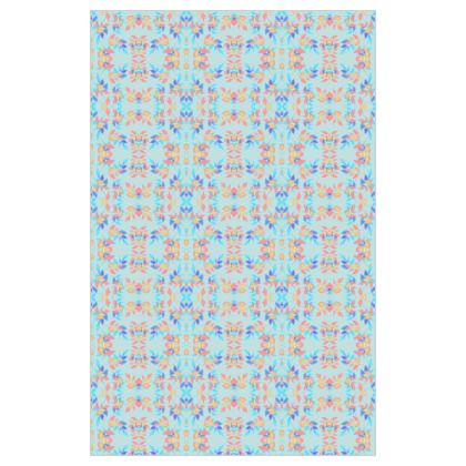 Curtain 183cm x 117cm, Blue, Orange Leaf Slipstream Morning Swallow