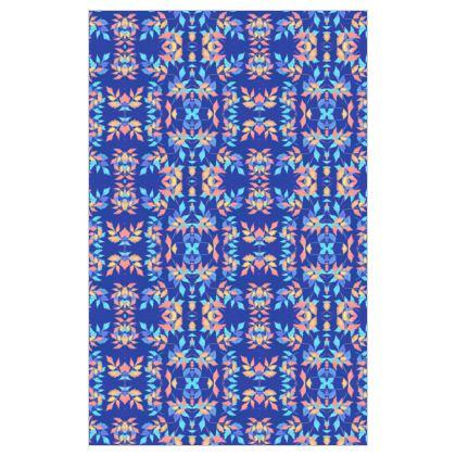 Curtain 183cm x 117cm, Blue, Leaf  Slipstream  Almost Winter