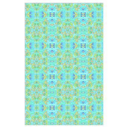 Curtain 183cm x 117cm, Turquoise, Leaf  Slipstream  Egypt