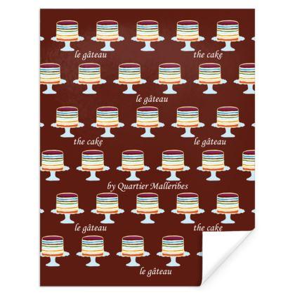 "Gift Wrap ""Le Gâteau"" (Chocolat)"
