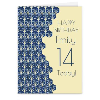 Art Deco Birthday Card Design