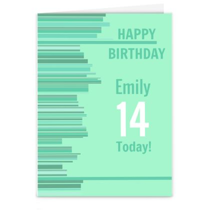 Modern Birthday Card Design