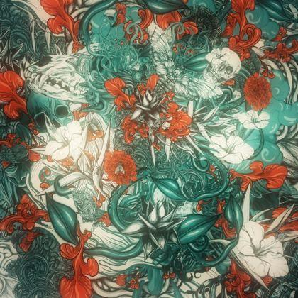 Sixth Mix Blue Kimono