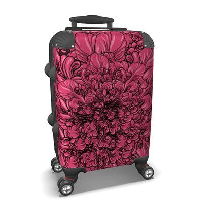 Pink Flower Suitcase