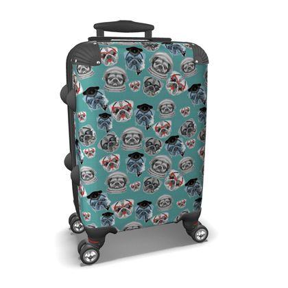 Pug Pattern Suitcase