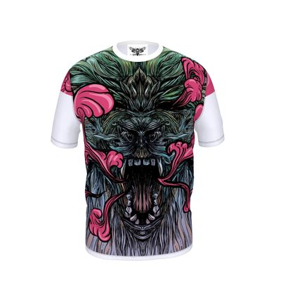 Dragon with Pink Smoke - Cut and Sew T Shirt