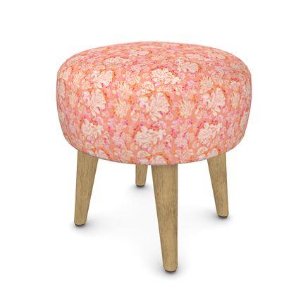 Footstool [Round, Square, Hexagonal], Orange,  Oaks  Mandarin