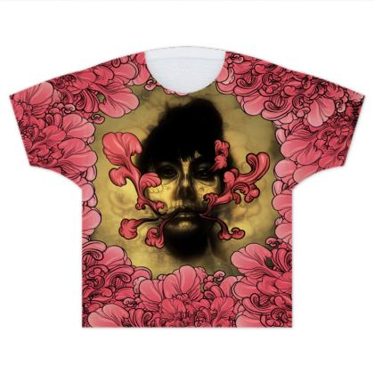 I am Serious with flowers Kids T Shirts