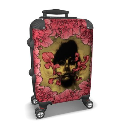 I am Serious with flowers Suitcase
