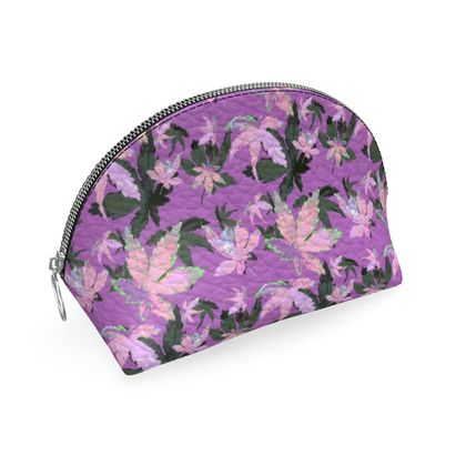 Shell Coin Purse, Mauve, Pink, Leaf  Regal Leaves  Lilac