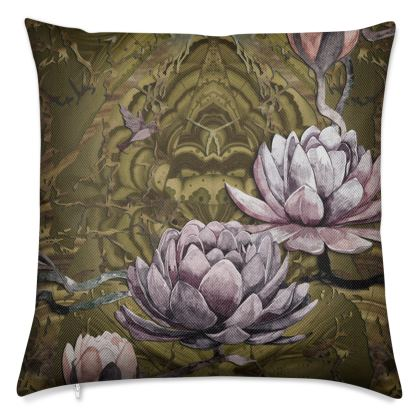 O B S I D I A N - Golden Ochre Luxury 50cm Cushion