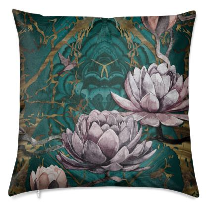 O B S I D I A N - Malachite Luxury 50cm Cushion