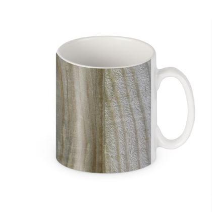 Wood Ceramic Mug