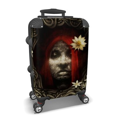 Red Hair with Flowers - Suitcase