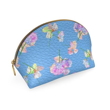 Shell Coin Purse, Blue, Flower My Sweet Pea  Periwinkle