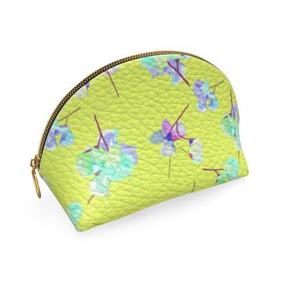 Shell Coin Purse, Yellow, Flower  My Sweet Pea In Yellow