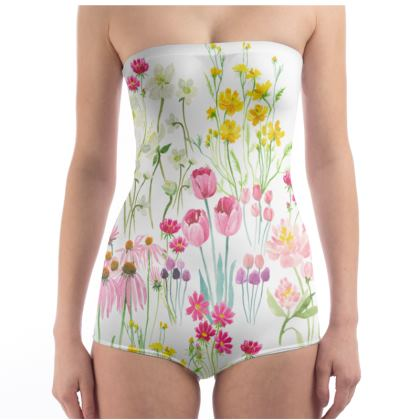 Swimsuit floral bouquet