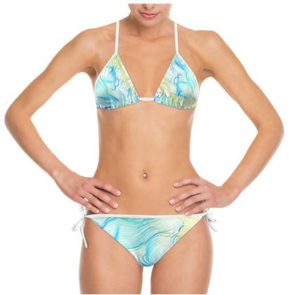 'Seaweed Dreams' Digital Glitch Bikini