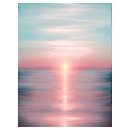 'Sea of Love' Sunrise Ocean Beach Towel