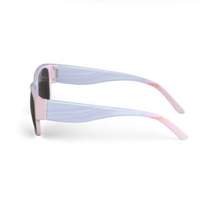 'Could Be' Pastel Glitch Sunglasses