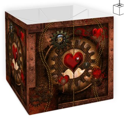 Wonderful steampunk design Square Lamp Shade