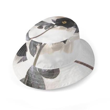 Bucket Hat - Black Hellebores