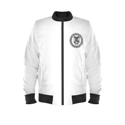 Alesi Custom Bomber Jacket- White/Black