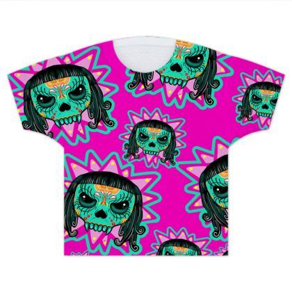 Cute Skull Vampire Kids T Shirts