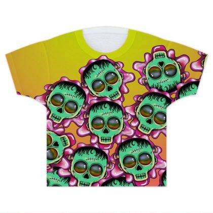 Cute Skulls Franky - Kids T Shirts