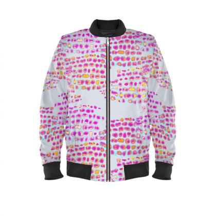 Textural Collection in grey and magenta Mens Bomber Jacket